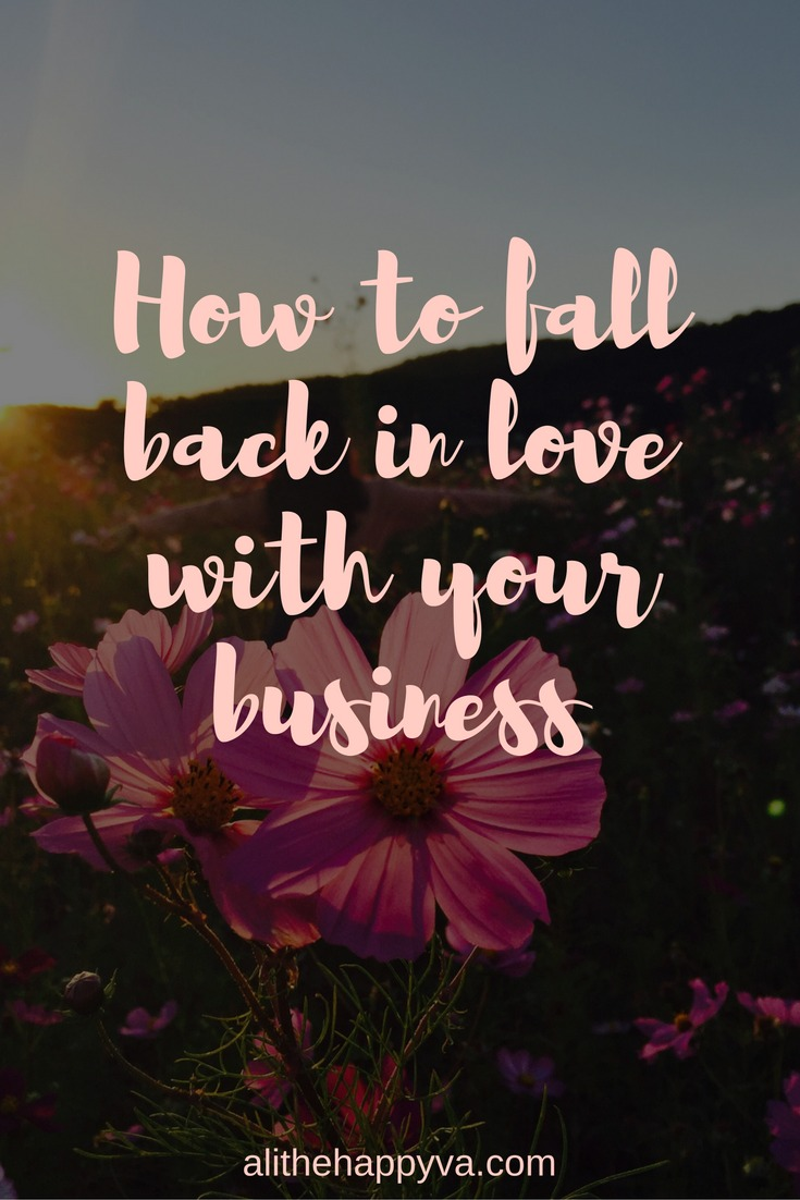 Solopreneur, #girlboss, freelancer, whatever you call it, sometimes even your dream gig becomes a grind. Here's how to fall back in love with your business.