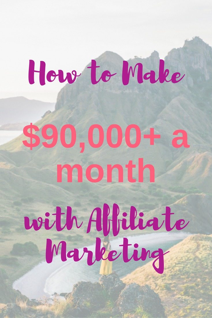 In this interview with Michelle of Making Sense of Cents, we learn how she makes more than $90,000 a MONTH using affiliate marketing on her blog.