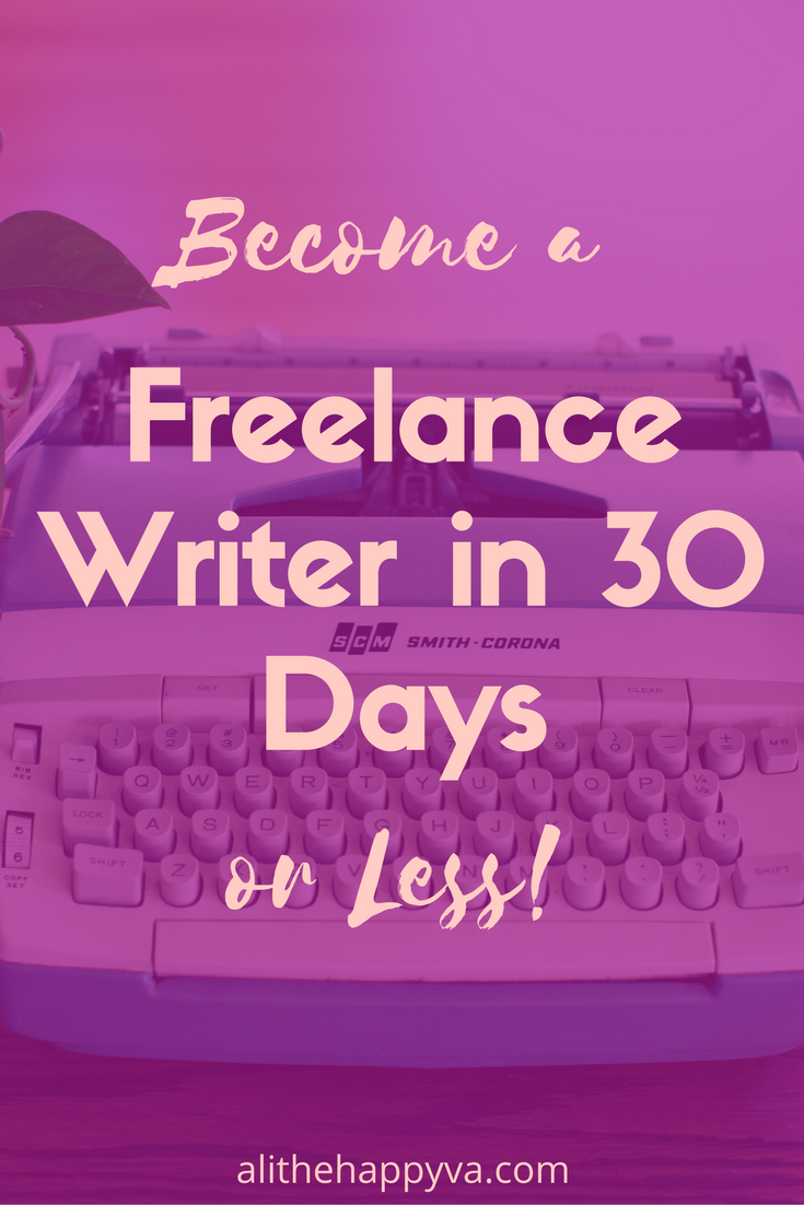 Intrigued by the idea of writing for a living? You can launch your new in 30 days or less! Find out how! via @AlithehappyVA - Work online